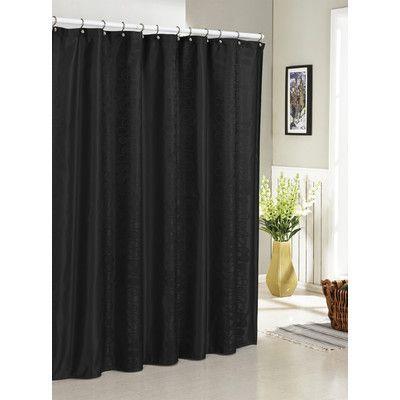 Dr International Hoyt Jacquard Shower Curtain Color Black Fabric Shower Curtains Black Shower Curtains Curtains