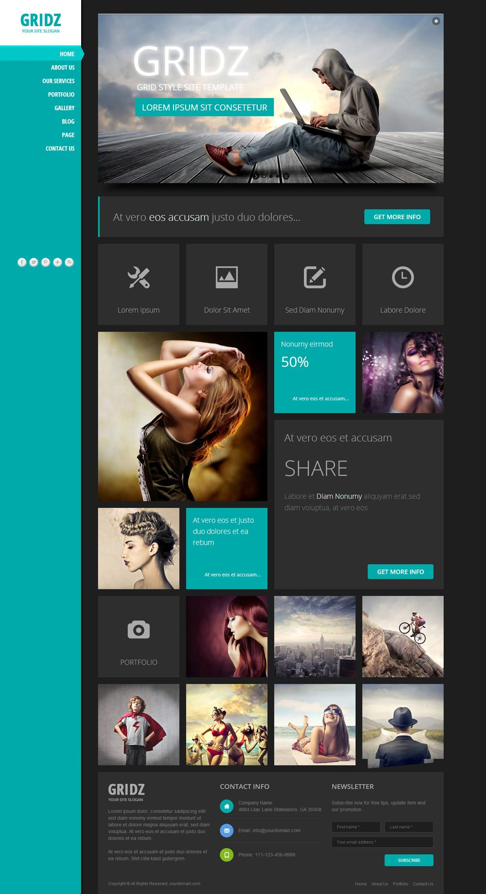 Responsive Html5 Template With Metro Style Theme Wp Mustache Themes Design Grid Design Web App Design