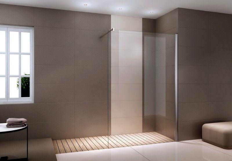 Duschabtrennung WalkIn Dusche Nano Echtglas EX101 8mm