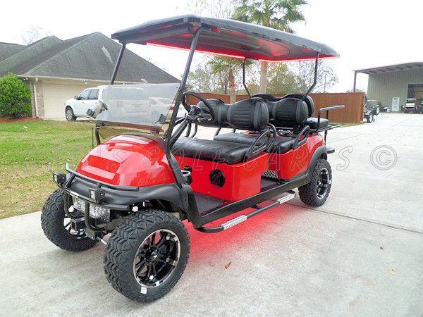 2013 Club Car Precedent Phantom Gas Powered Golf Cart With 6 Passenger Stretched Limo Conversion Golf Carts Club Car Golf Cart Accessories Gas Golf Carts