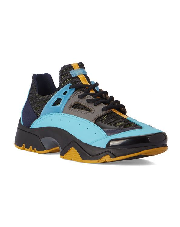 c99401d8f34 Black and Turquoise Sonic Running Shoes KENZO