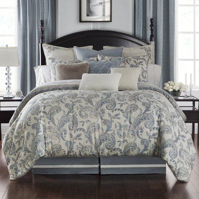 Waterford Bedding Florence 4 Piece Reversible Comforter Set