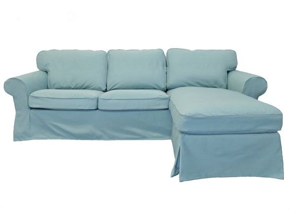 IKEA Ektorp Loveseat plus Chaise Slipcover in Cloud Twill from ...