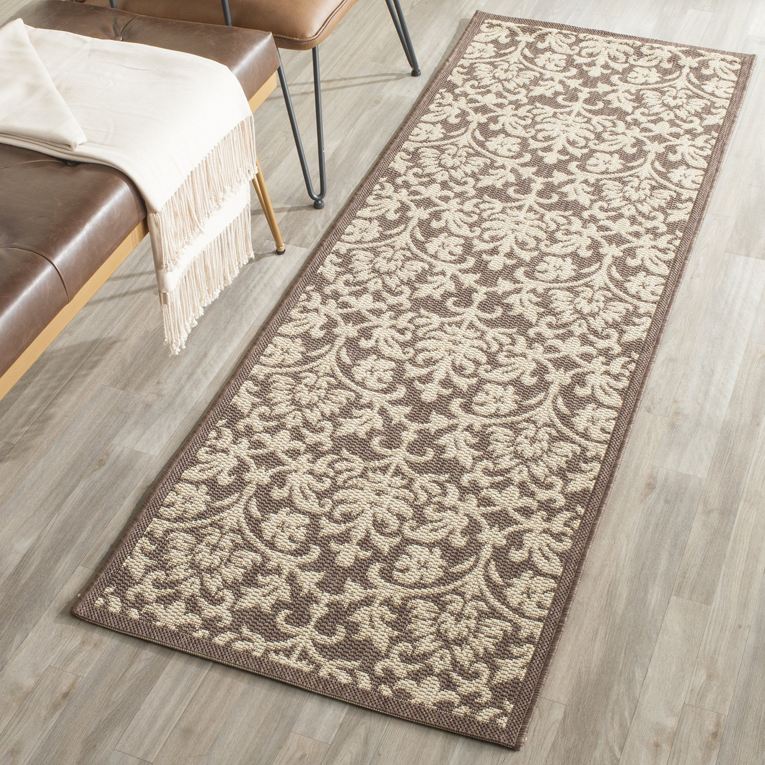 Safavieh Courtyard Collection Cy34163409 Chocolate And Natural Indoor Outdoor Runner 23 X 12 You Ca Indoor Outdoor Area Rugs Indoor Outdoor Rugs Outdoor Rugs