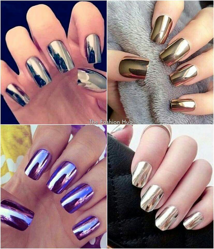 uñas metalicas | Tonos de cabello | Pinterest | Makeup, Balayage and ...