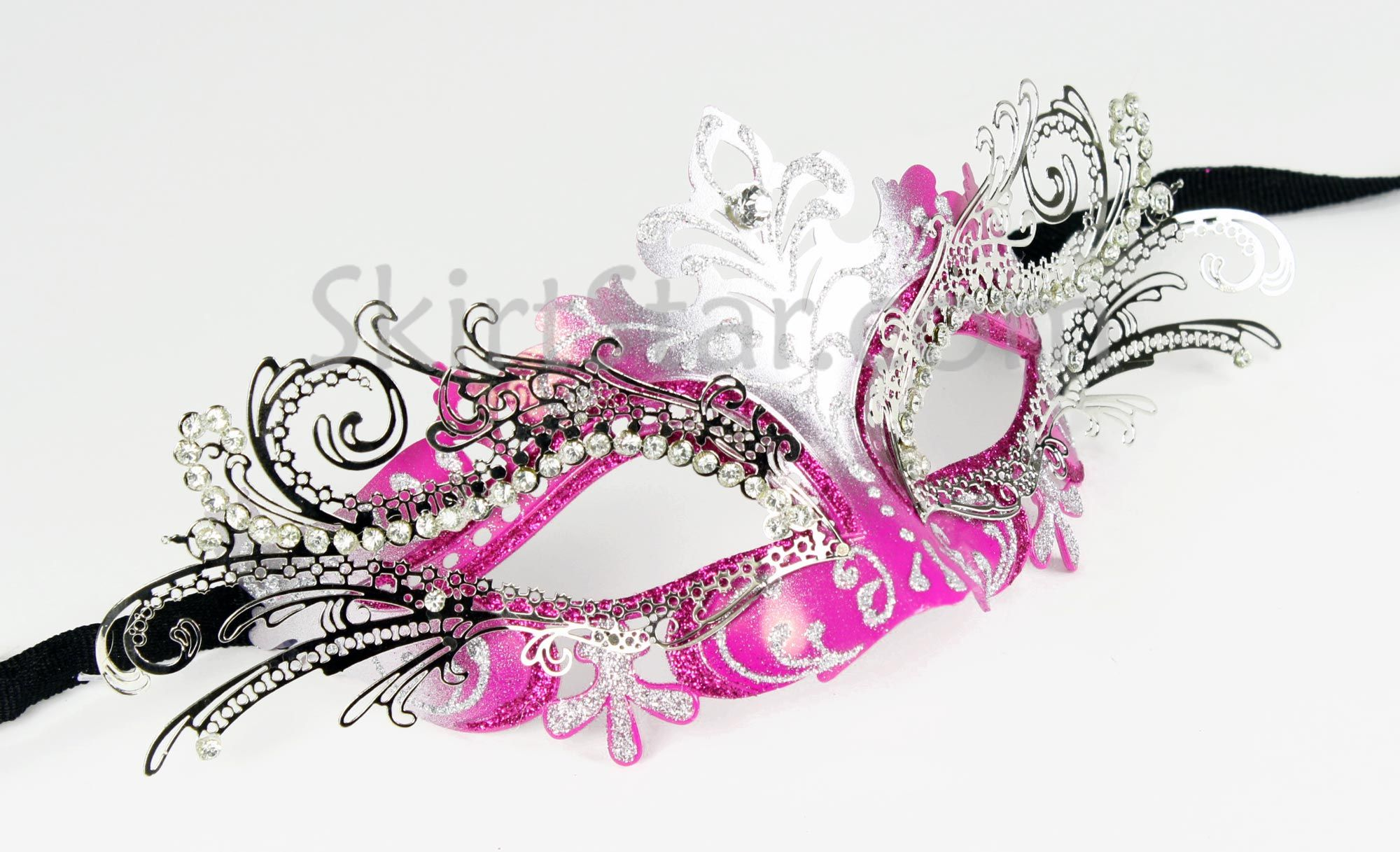 Masquerade mask masquerade mask vine mask metal lace masquerade - Black Masquerade Masks For Women Laser Cut Metal Venetian Mask Masquerade Ball Hot Pink Silver