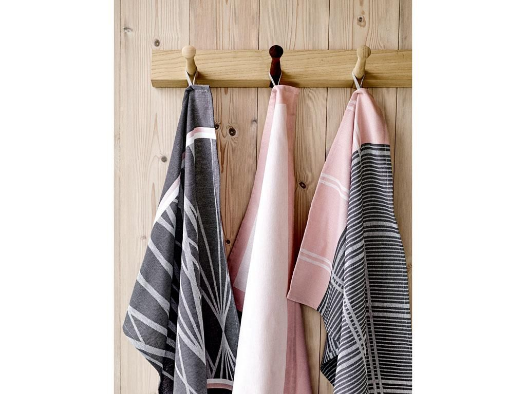 Södahl Frame Kjøkkenhåndkle 50 x 70 cm rosa