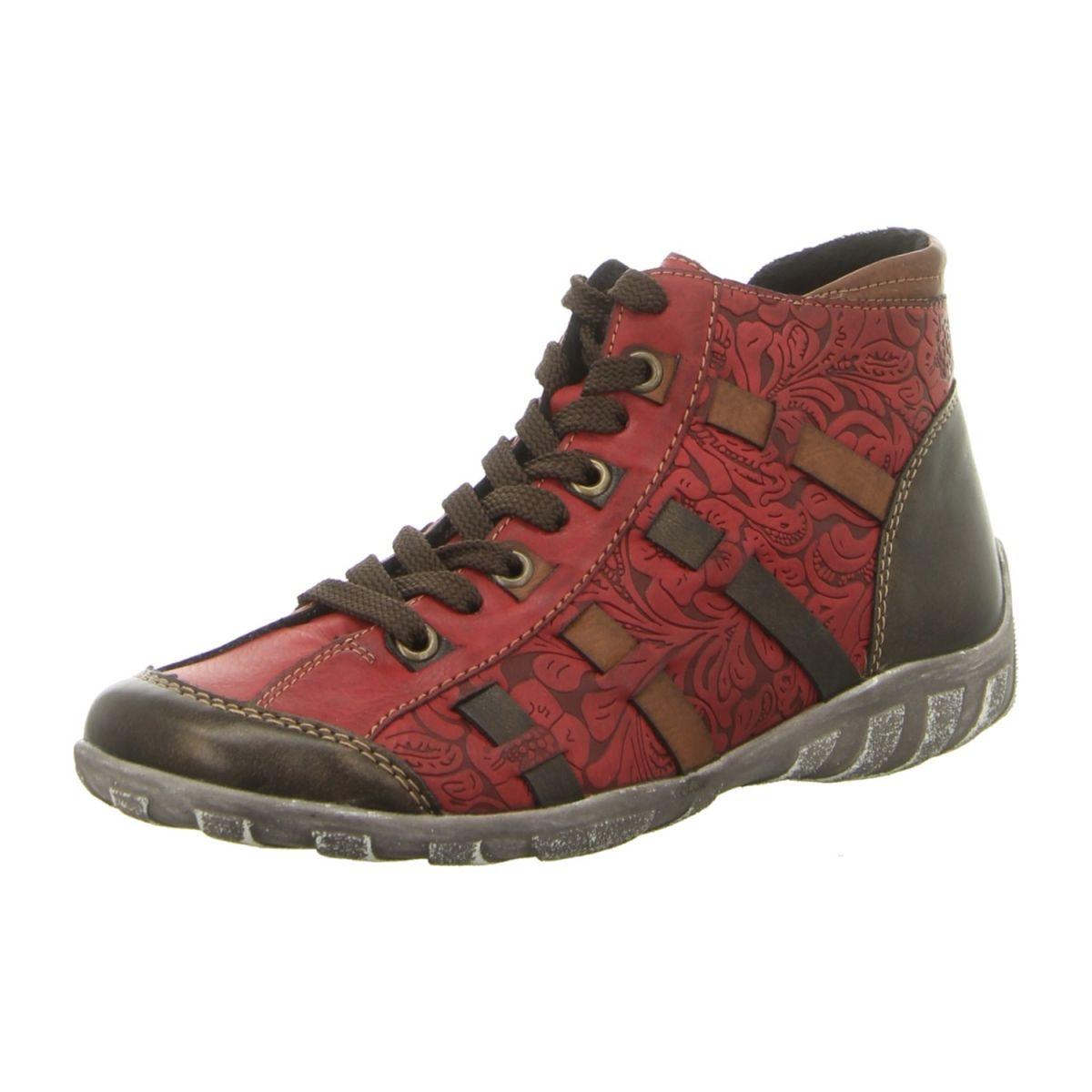 Remonte Schuhe Stiefelette R3486 35 rot kombi rot NEU