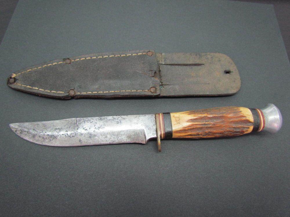 Vintage Monarch 141 Germany Stag Skinner Hunting Bowie