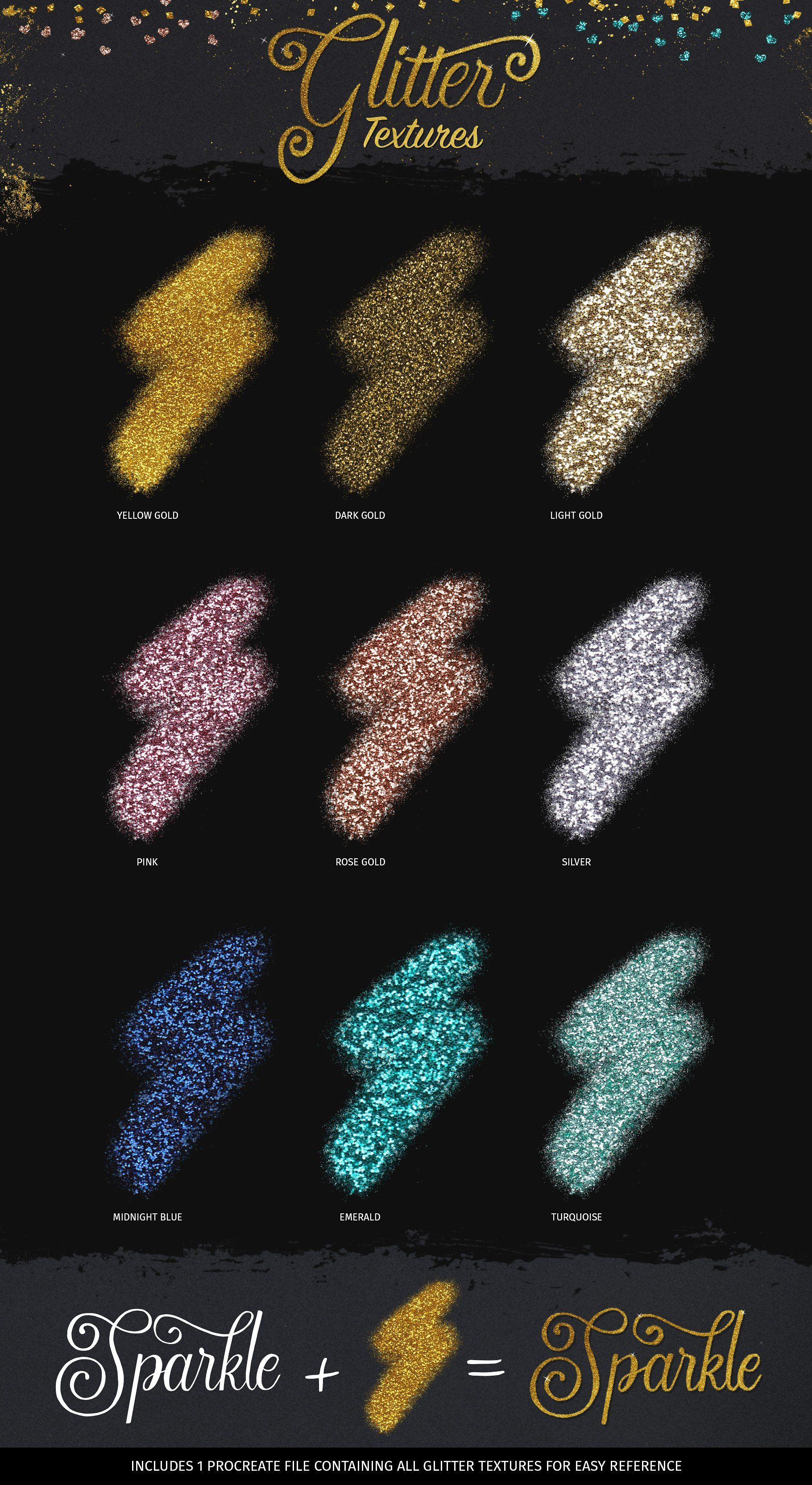 Glitter And Foil Kit For Procreate Procreate Brushes Free Free