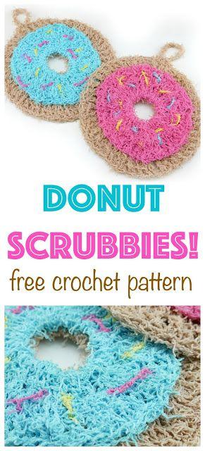 Free Crochet Pattern...Donut Scrubby! | Pinterest | Häkeln, Stricken ...