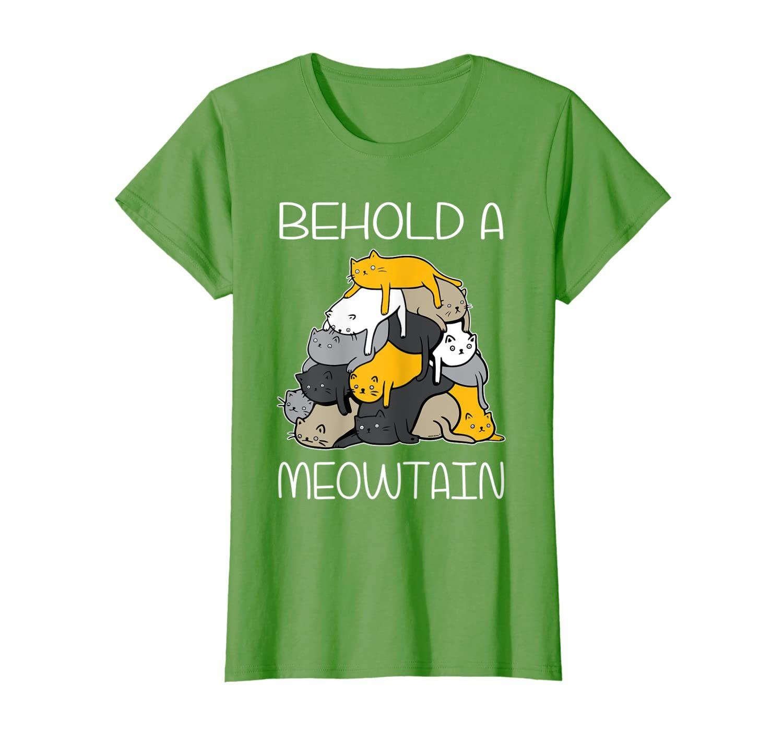 Funny Cat Shirt Behold A Meowtain Cat Mountain Tee T Shirt Tshirt Yourtee Custom Tee