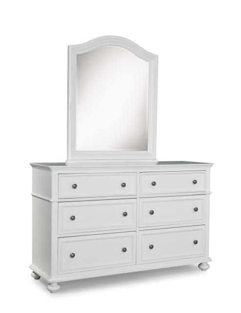 Legacy Kids Madison Natural White Dresser and Mirror ...