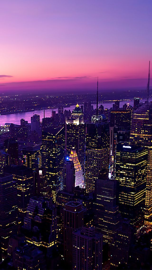 Purple Pill City City Wallpaper New York Wallpaper York Wallpaper