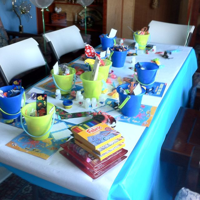 Kids Craft Table At Baby Shower Will Prob Be An Unknown Of