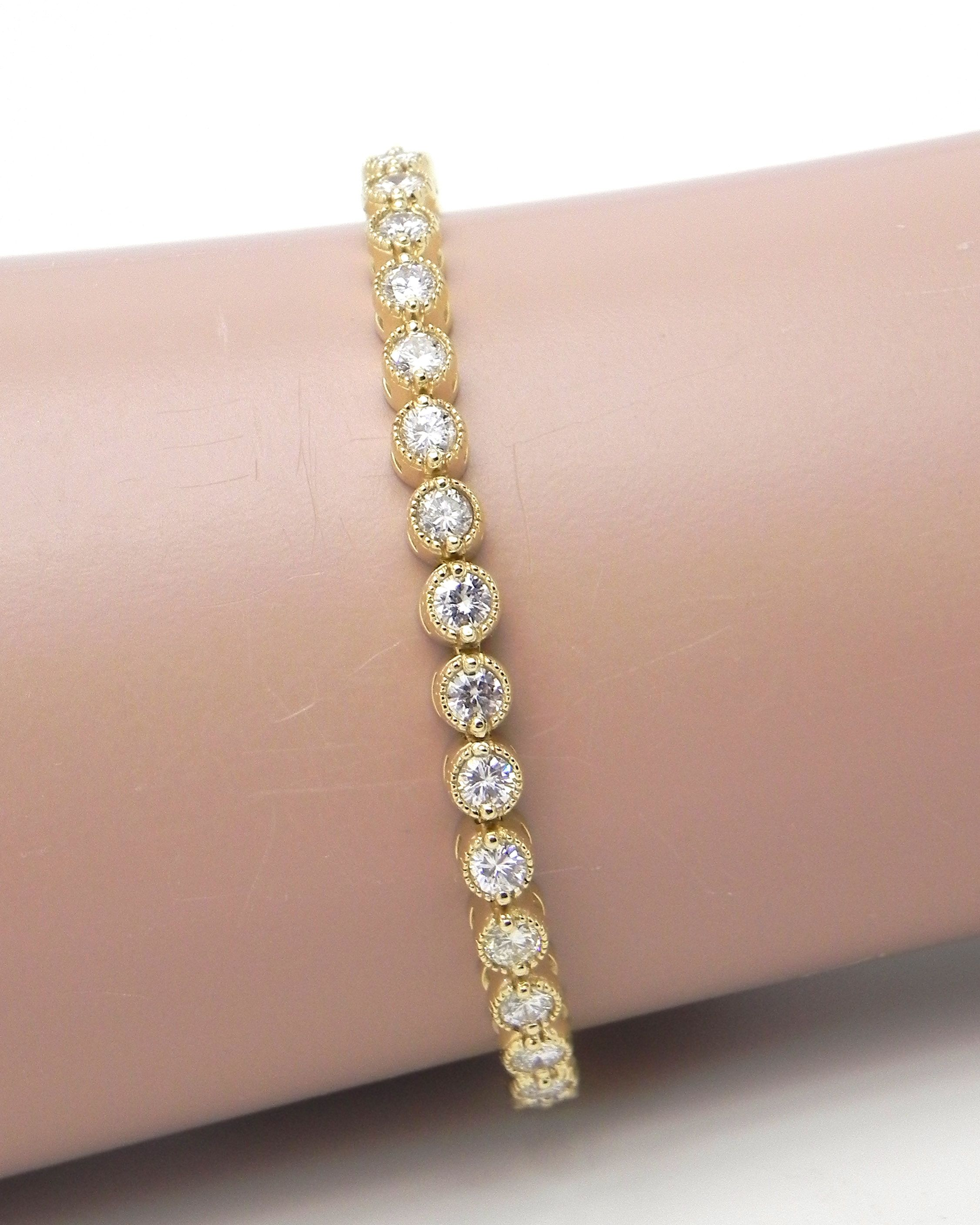 bracelet gold white diamond s branded jewelry women non tennis