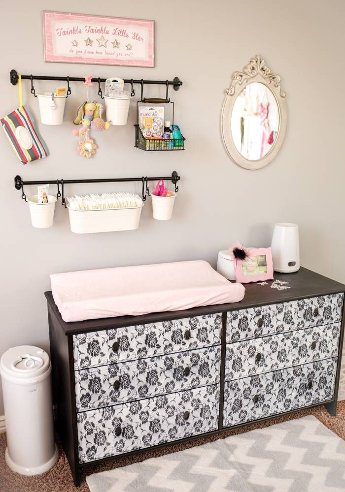 Diy baby changing station baby changing station for Baby organizer ideas
