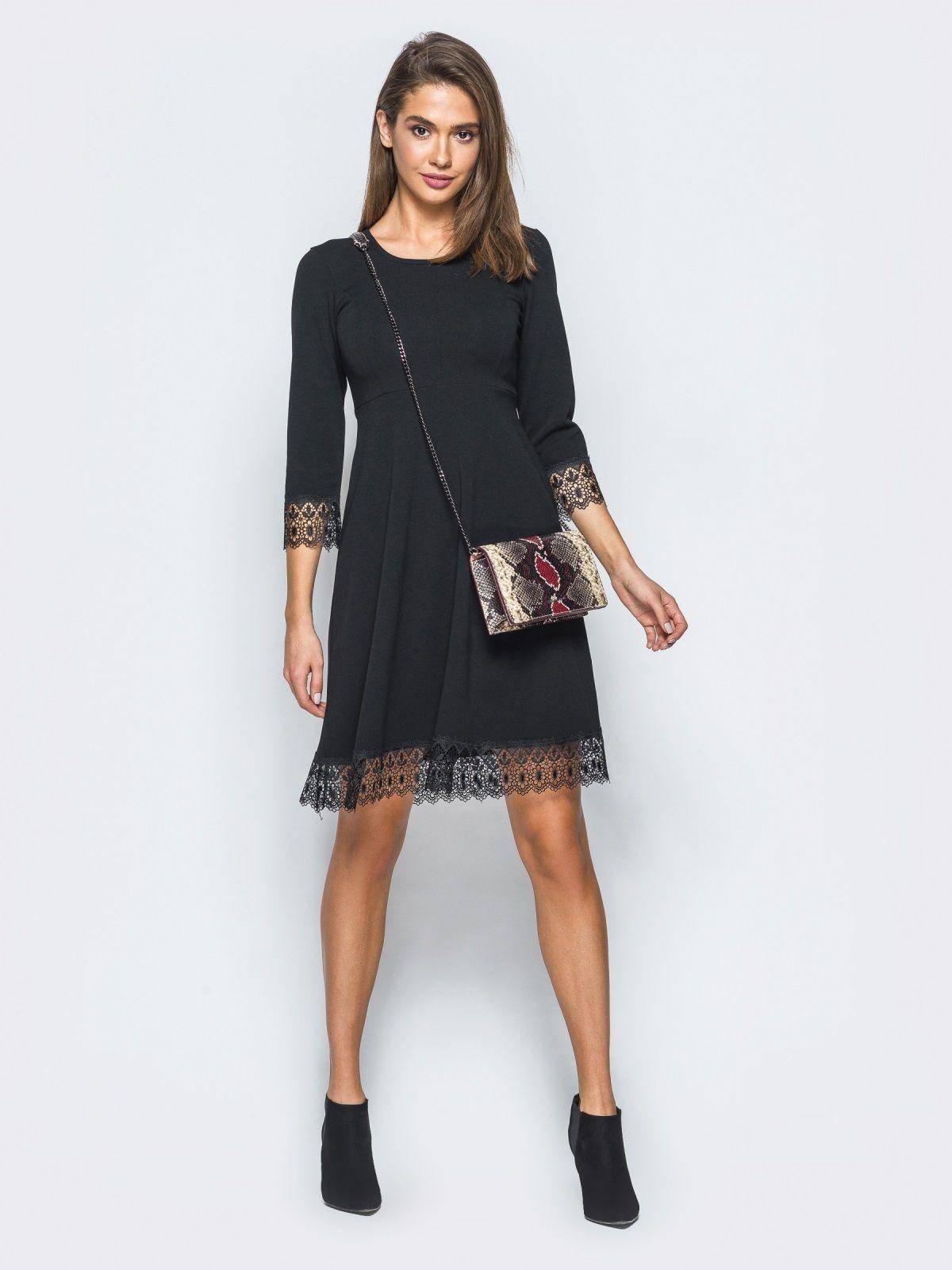 9456569f1ecc5de Лаконічне плаття з рукавом 3/4. Модель з завищеною лінією талії. Рукави і