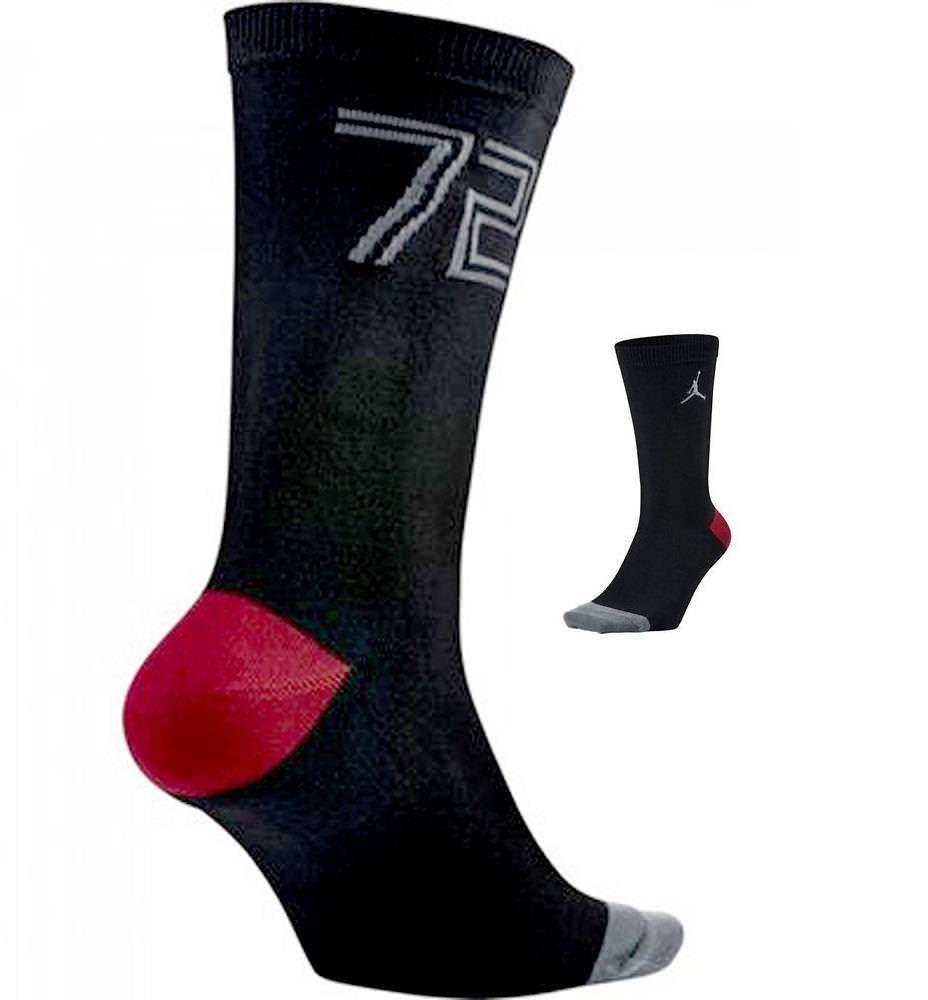 d8ed0e7678c6 Nike Mens Jordan Jumpman Retro 72 10 Crew Black Socks Large 8-12 776319-010   Nike