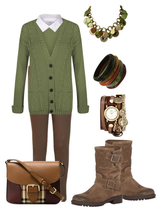 """""""Peppermint pattie"""" by jsvehla on Polyvore featuring WearAll, Closed, Barneys New York, Yves Saint Laurent, La Mer and Burberry"""