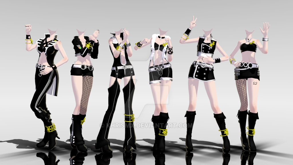 Mmd idolm ster outfits dl by khrismx on deviantart for Deviantart vrchat avatars