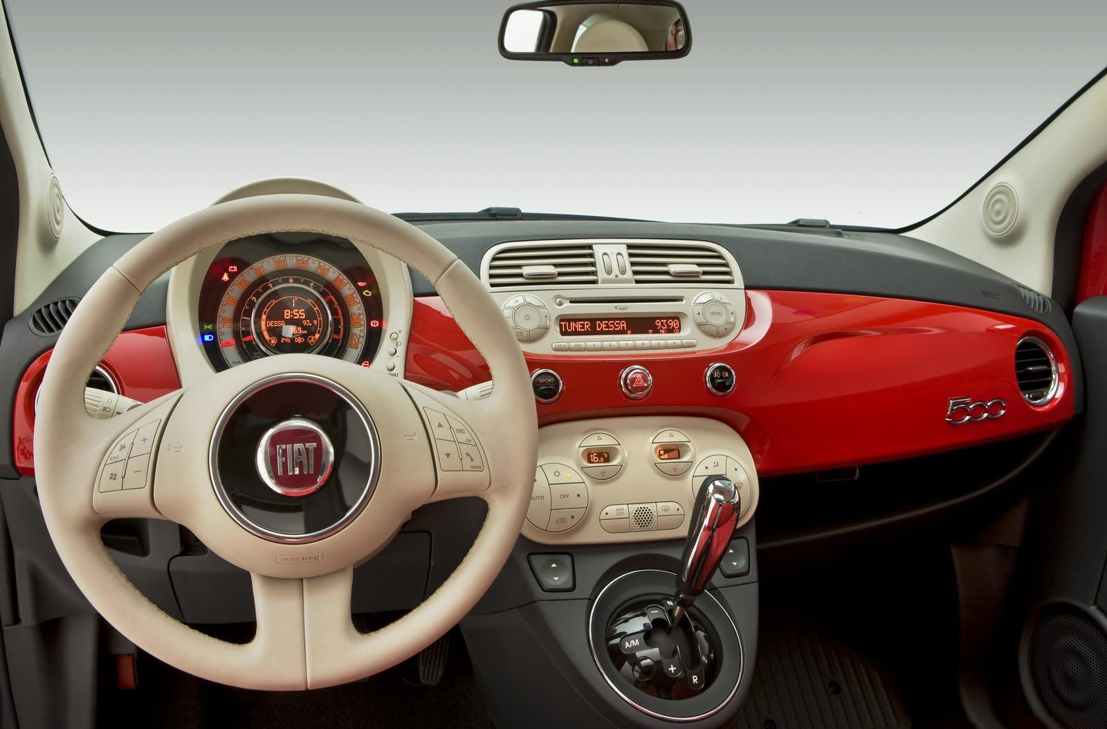 fiat 500 interior automatic wallpapers desktop - http