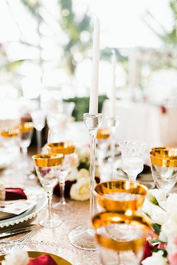 Red and bluch wedding decoration. Tracadero restaurant, Wedding