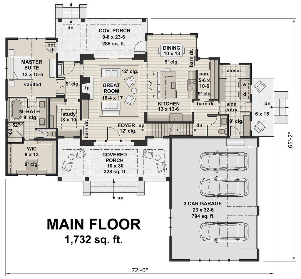 Farmhouse Style House Plan 4 Beds 3 50 Baths 2528 Sq Ft Plan 51 1130 Floor Plan Main Floor Plan House Plans In 2019 House Plans Farmhouse Plans Arch