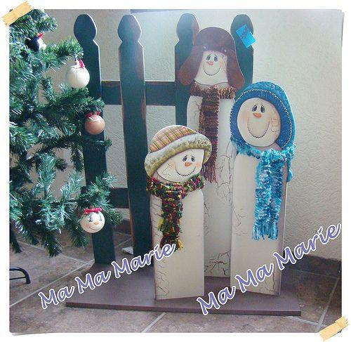 Trio Boneco de Neve
