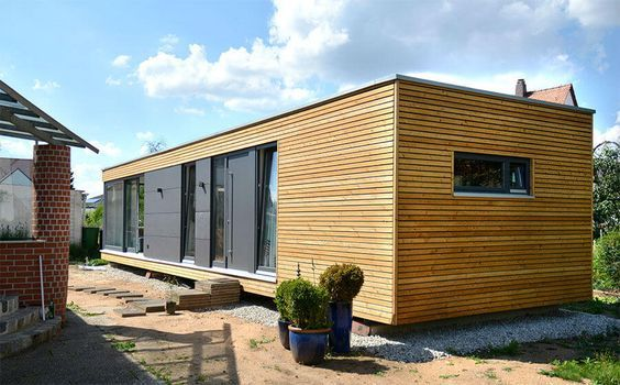 Cubig autarkes wohnen container h user pinterest for Transportables haus holz