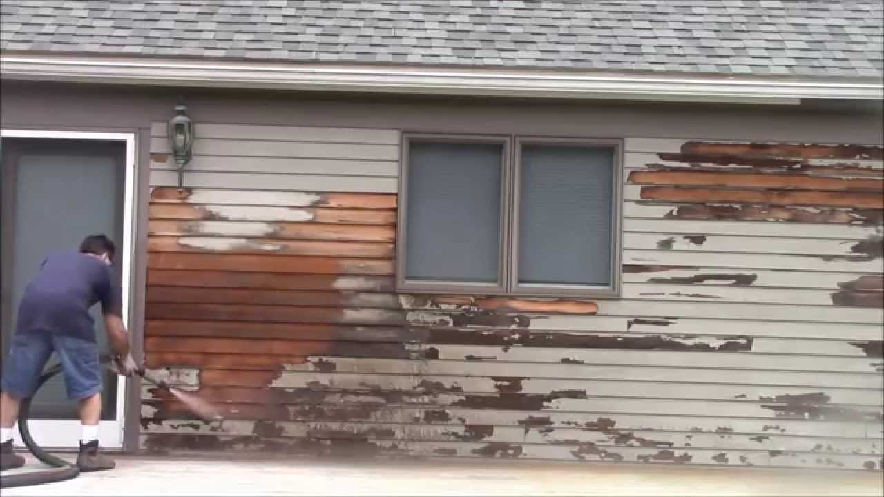 Removing Paint Red Cedar Siding With The Dustless Blaster We Are Wondering About Different Options If You Have Cedar Siding Paint Remover House Exterior