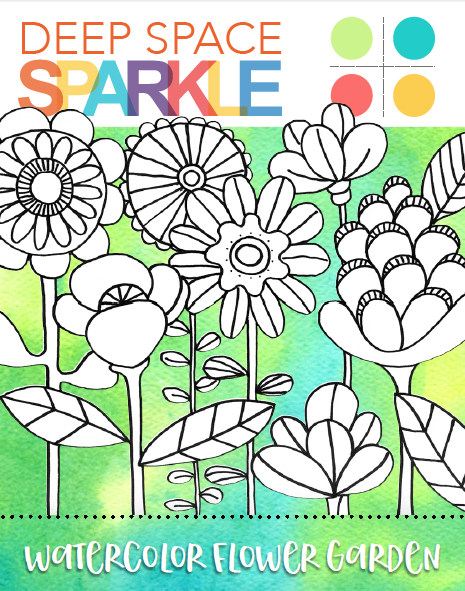 Draw a Flower Garden | Drawing guide, Drawings and Deep space sparkle