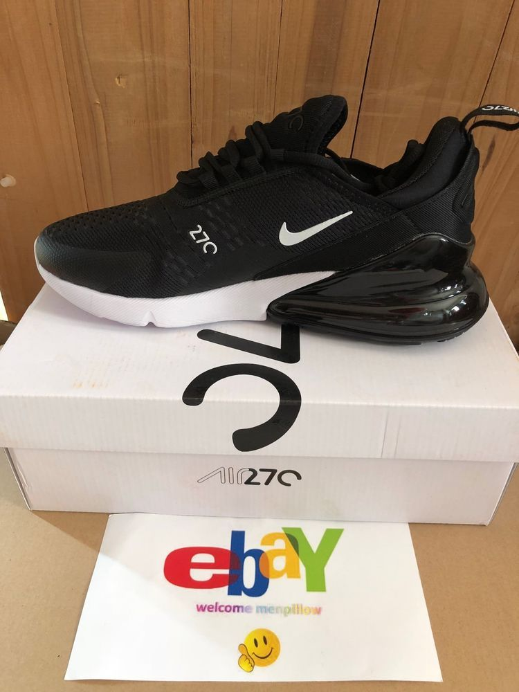 new arrival 53b33 3df8e New Nike Air Max 270 Men Running Shoes Sneakers Trainers AH8050-002 Black  White