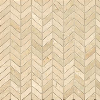 Bedrosians Crema Marfil Marble Chevron Mosaic Polished Tiles Box Of 10 Sheets Brown Size 12 X