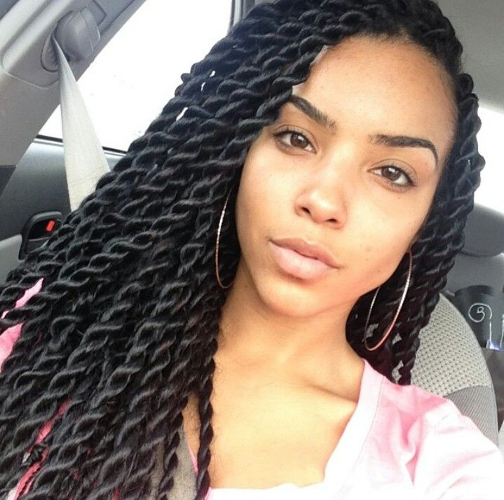 Large Senegalese Twists Hair Curls Pinterest Braids Hair