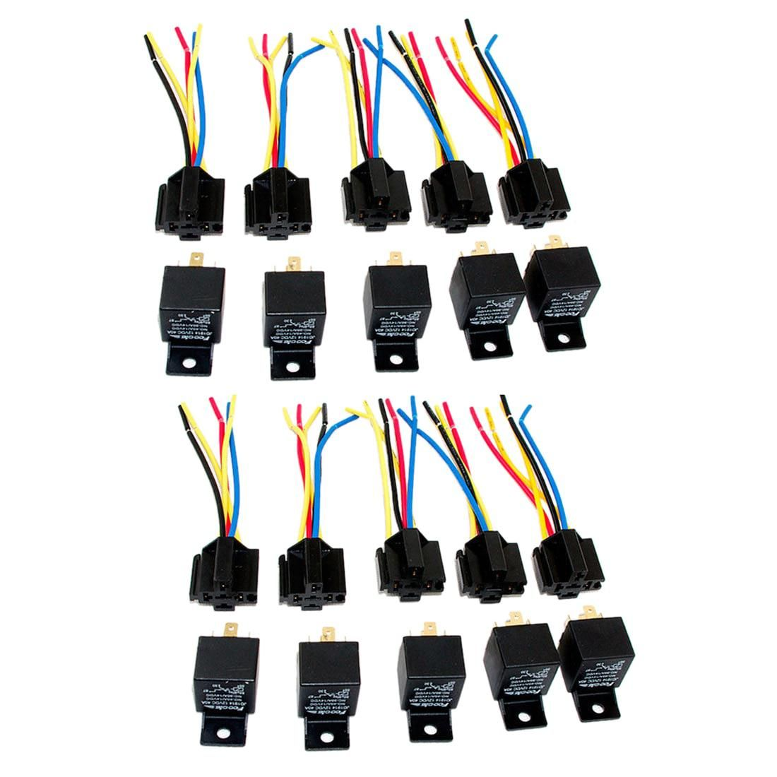 12 Volt Electric Wire Harness Wiring Library Conversion Diagram 1939 Chevy Lot10 New 40 Amp Spdt Automotive Relay With Wires Socket Yesterdays