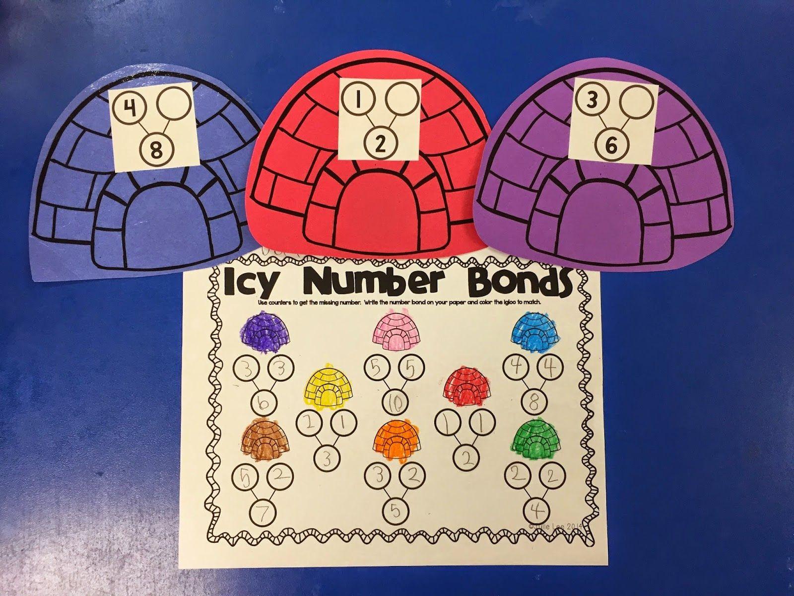 Snow Kindergarten Worksheet Number Bonds