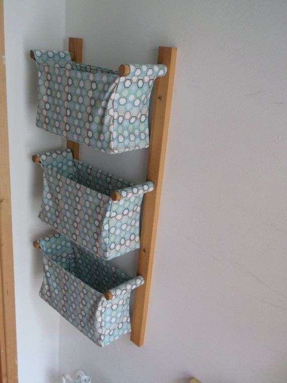 Wall Hanging Storage Diaper Caddy With 3 Baskets