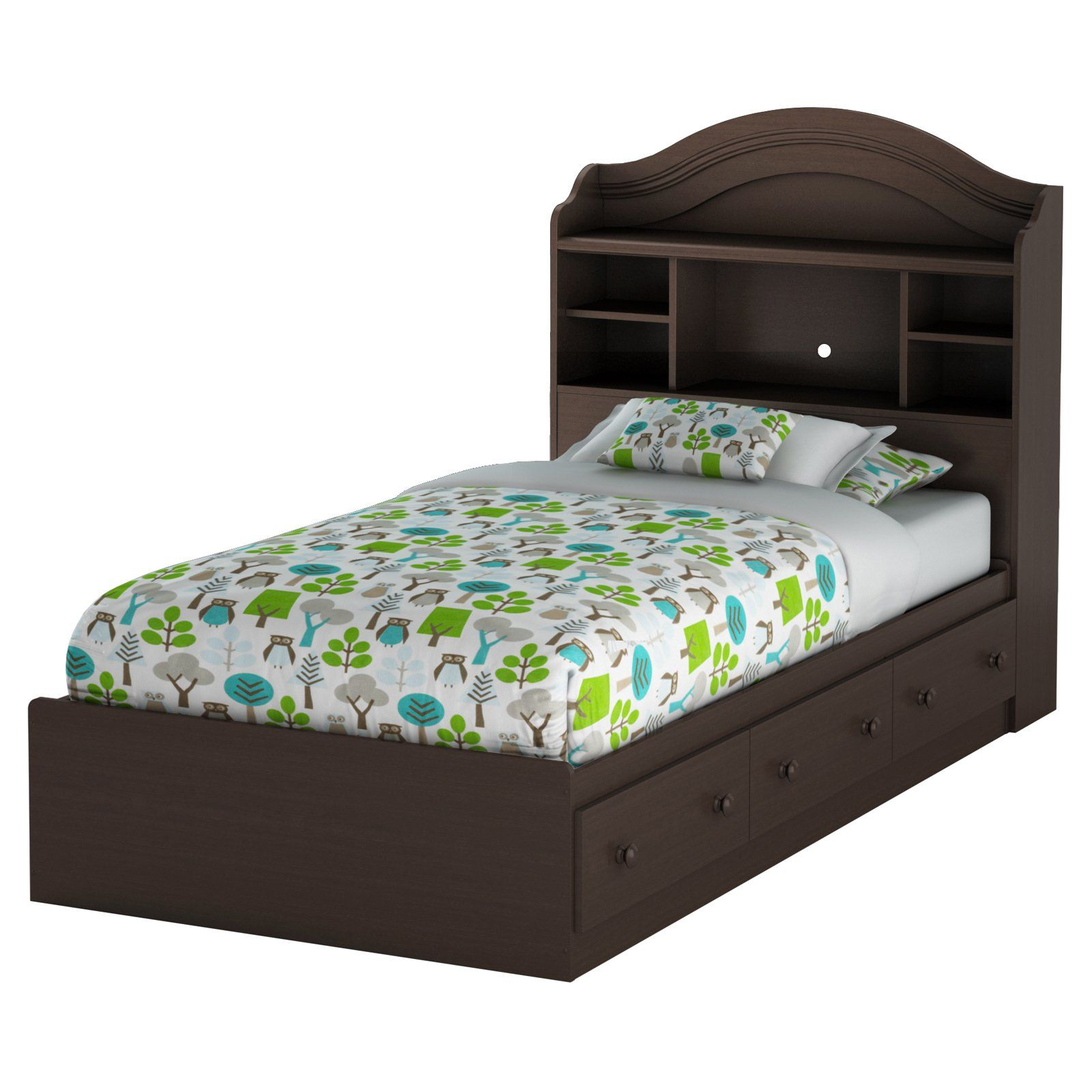 Gothic Craft Twin Storage Bed with 6 Drawers