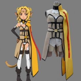 Sword Art Online Alicia Rue Cosplay Costume. Package includes: Cape, Coat,  Underwear
