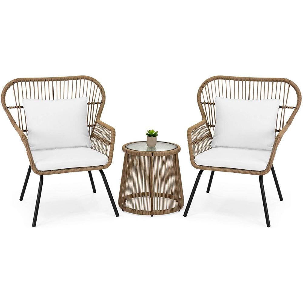 barton 3pcs outdoor patio wicker chat