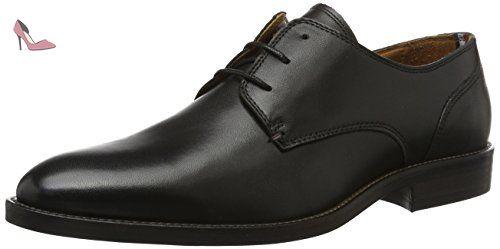 Tommy Hilfiger D2285Aytona 1A, Oxfords Homme, Noir (Black), 42 EU - Chaussures tommy hilfiger (*Partner-Link)
