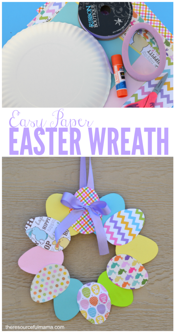 Photo of Easy Paper Easter Wreath