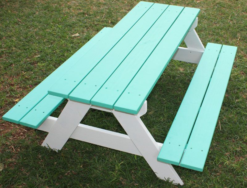 Kids Picnic Table Just For Kids Concrete Countertops Pinterest - Teal picnic table