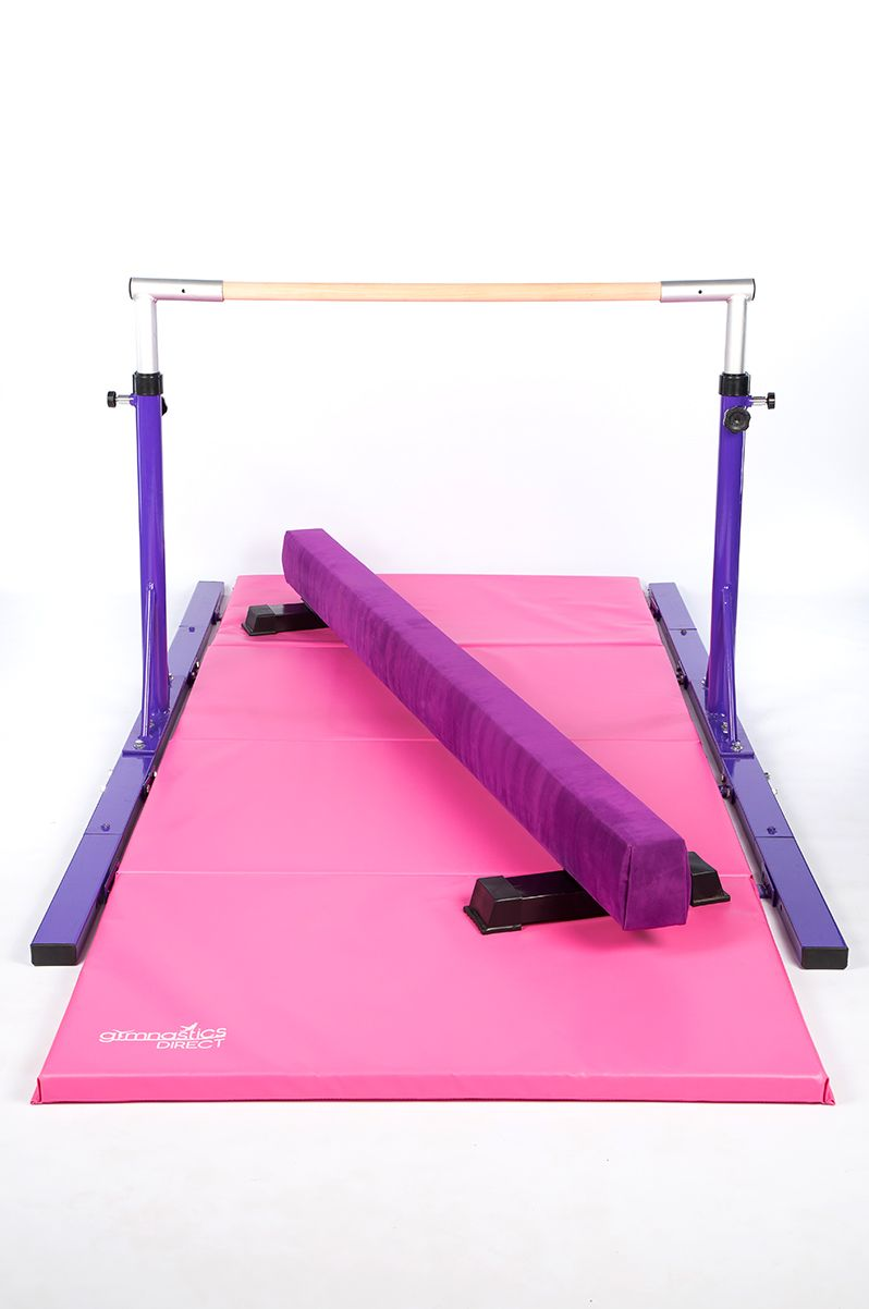 Elite Gymnast 2 5m Floor Beam 2 X Mats Bar Combo Gymnastics