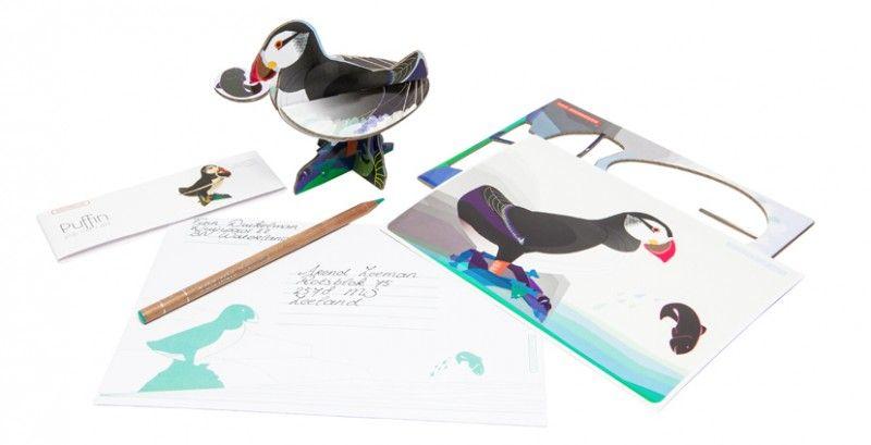 Totem pop out kaarten, 4 in 1 set: Vlaamse Gaai, Kidsonroof