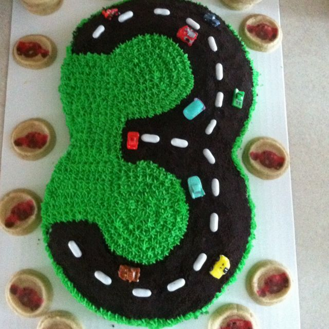 Perfect for my sons bday but a 4 instead of a 3 birthday cake!