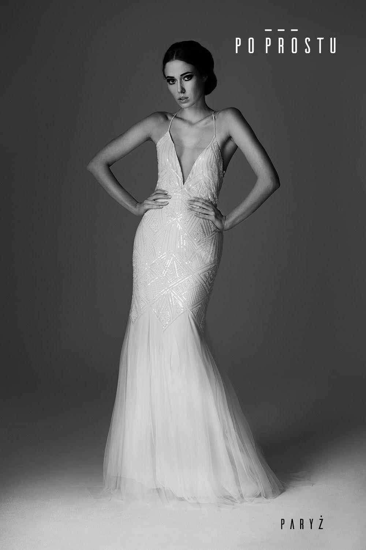 442294e125 Paris Wedding Dress. Suknia Paryż. Simple wedding dress. Po Prostu suknie  ślubne.