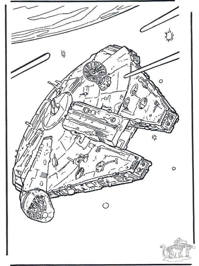 Millenium Falcon Star Wars Coloring Book Star Wars Colors
