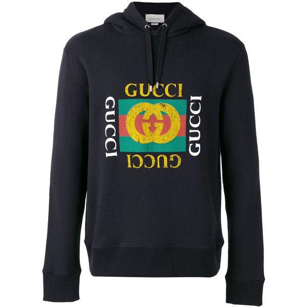 a7f9a8ac3a8e9e Gucci logo print hoodie ( 1